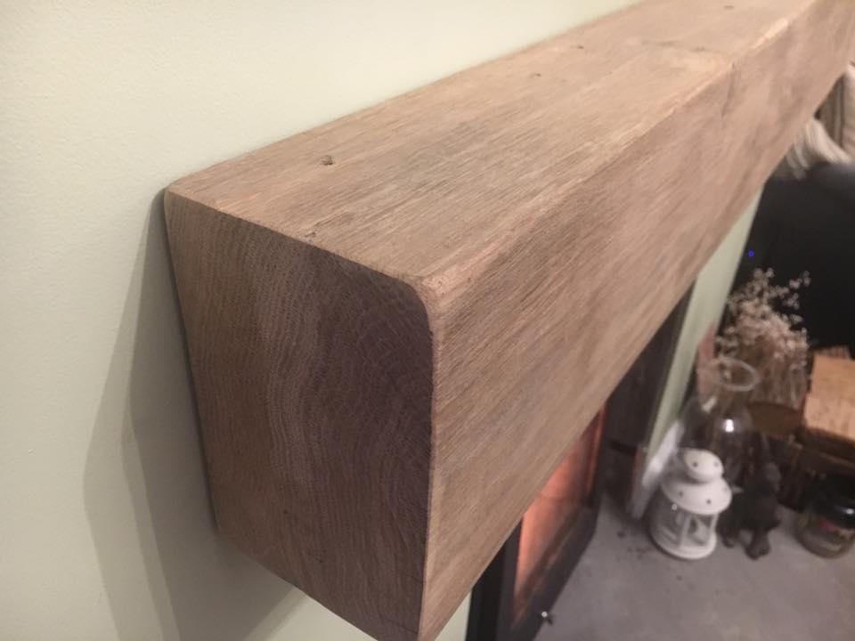 oak mantel
